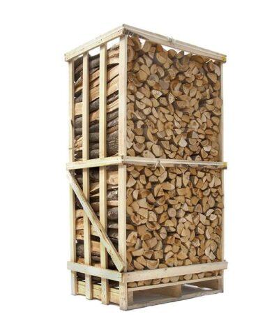 1,8 m3 lufttørret blandet løvtræ brænde