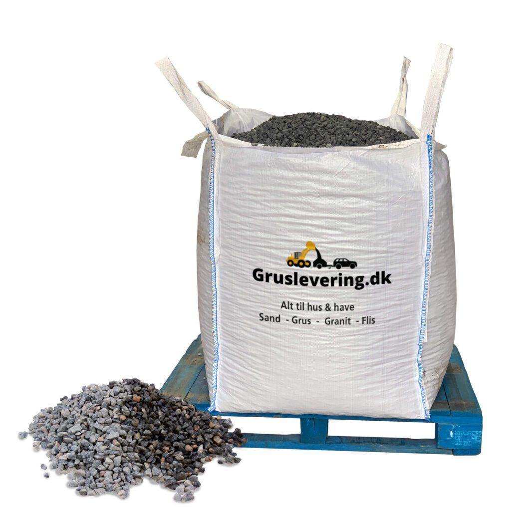 grå granitskærver leveret i bigbag