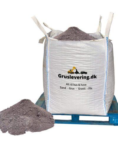 grå stenmel leveres gratis I bigbag