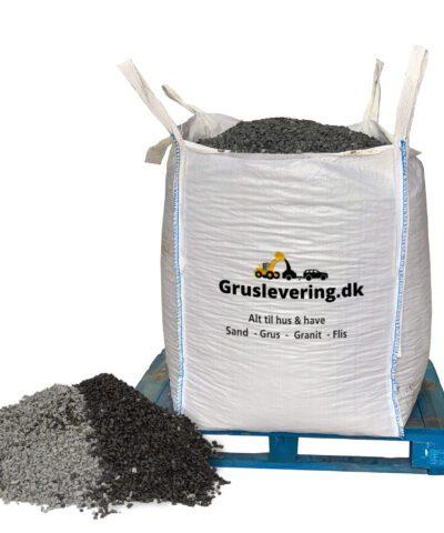 sorte granitskærver 5/8 leveret i bigbag