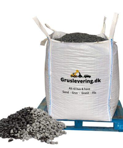 sorte granitskærver 18/25 leveret i bigbag