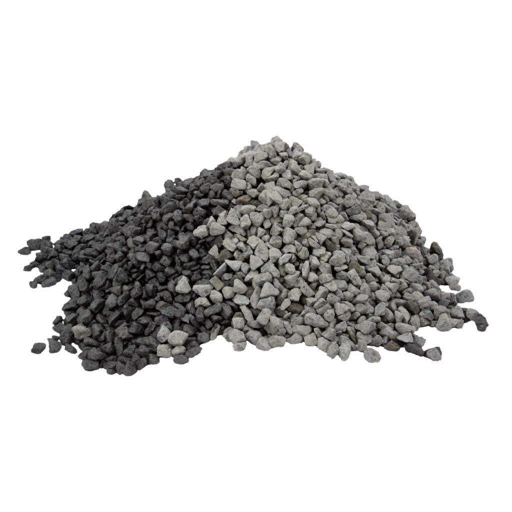 sorte granitskærver 11/16 leveret i bigbag